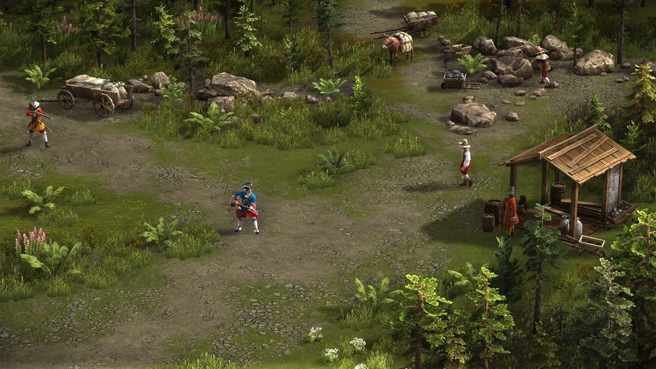 Казаки 3 анимации юнитов: мушкетер